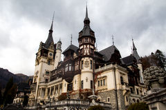 Castelo de Peles, Sinaia Romênia Fotos de Stock