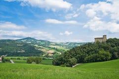 Castelo de Pellegrino Parmense. Emilia-Romagna. Fotografia de Stock Royalty Free