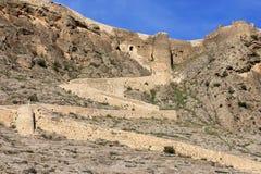 Castelo de Penas de San Pedro, La Mancha, Spain Imagem de Stock