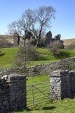 Castelo de Pendragon - vales de Yorkshire - Inglaterra Foto de Stock Royalty Free