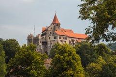 Castelo de Pernstein em República Checa Imagens de Stock Royalty Free