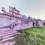 Castelo de Pidhirtsi Opinião traseira de Fisheye da fachada Fotos de Stock Royalty Free