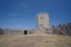 Castelo de Platamon em Grécia fotografia de stock