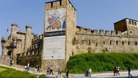Castelo de Ponferrada, província de Leon, Espanha, Fotografia de Stock Royalty Free