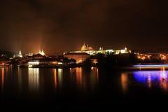 Castelo de Praga da noite, República Checa Imagem de Stock Royalty Free