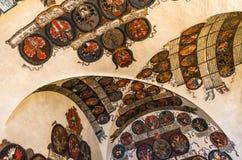 Castelo de Praga, escritório de registro com heraldics checo. fotografia de stock