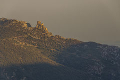 Castelo de Queribus, Cucugnan, França Imagem de Stock