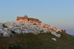 Castelo de Querini na ilha de Astypalea Fotografia de Stock Royalty Free