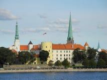 Castelo de Riga em Latvia imagens de stock royalty free