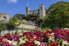 Castelo de Rochester em Kent, Reino Unido Foto de Stock