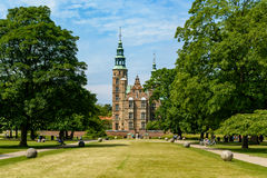 Castelo de Rosenborg, Copenhaga, Dinamarca imagens de stock