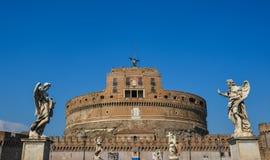 Castelo de San Angelo no Vaticano fotos de stock royalty free