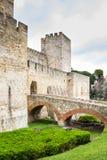 Castelo de San Jorge i Lissabon, Portugal Arkivbilder