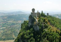 Castelo de San Marino Foto de Stock Royalty Free