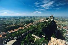 Castelo de San Marino Fotografia de Stock