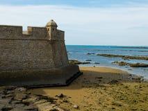 Castelo de San Sebastian Cadiz, a Andaluzia spain Imagem de Stock