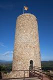 Castelo de Sant Joan Tower em Blanes foto de stock