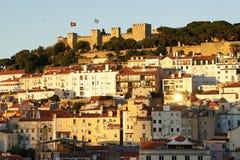 Castelo de Sao Джордж в Лиссабоне, Португалии Стоковое Изображение