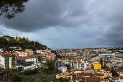 Castelo de Sao jeorge Royalty Free Stock Images