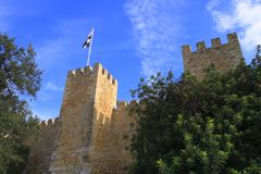 The Castelo de Sao Jorge Royalty Free Stock Image