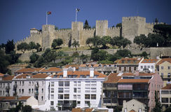 Castelo de Sao Jorge. In Lissabon, the capital of Portugalia royalty free stock image