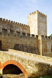 The Castelo de Sao Jorge Royalty Free Stock Images