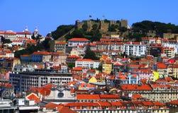 Castelo DE Sao Jorge em Lissabon Stock Afbeeldingen