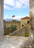 Castelo de Sao Jorge in Lissabon Stock Photo