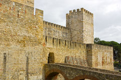 Castelo de Sao Jorge in Lissabon Royalty Free Stock Photography