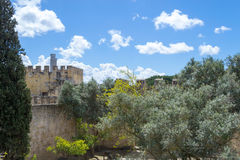 Castelo de Sao Jorge (Portugal) Fotografía de archivo libre de regalías