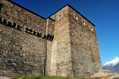 Castelo de Sasso Corbaro Fotos de Stock Royalty Free