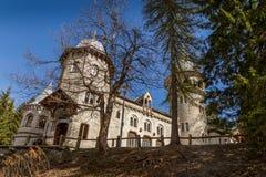 Castelo de Savoia em Gressoney Foto de Stock