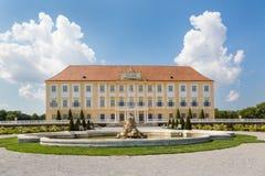 Castelo de Schloss Hof com jardim barroco, Áustria Fotografia de Stock