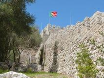 Castelo de Sesimbra en Portugal Fotos de archivo libres de regalías