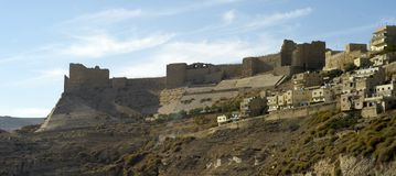 Castelo de Shawbak da cinza fotos de stock royalty free