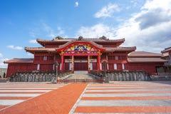 Castelo de Shuri em Naha, Okinawa, Japão fotografia de stock royalty free