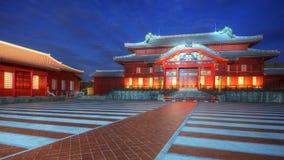Castelo de Shuri em Okinawa imagem de stock