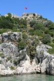 Castelo de Simena de Kekova Imagens de Stock