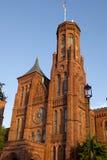 Castelo de Smithsonian em Washington, D C imagens de stock