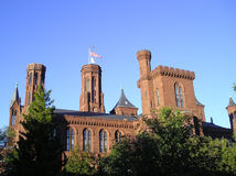 Castelo de Smithsonian - Washington, C.C. Fotografia de Stock