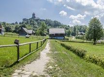 Castelo de Stara Lubovna, Eslováquia imagem de stock royalty free