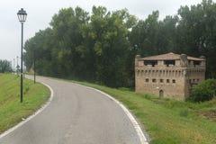 Castelo de Stellata (Ferrara) Foto de Stock Royalty Free