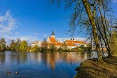 Castelo de Telc em República Checa Fotos de Stock Royalty Free