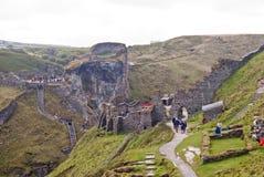 Castelo de Tintagel fotografia de stock royalty free