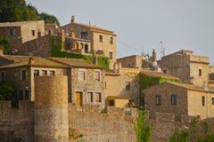 Castelo de Tossa de Mar Foto de Stock