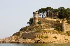 Castelo de Tossa de Mar Fotografia de Stock