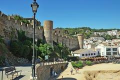 Castelo de Tossa de Mar Imagens de Stock