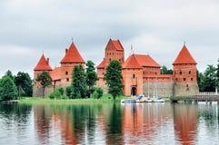 Castelo de Trakai foto de stock royalty free