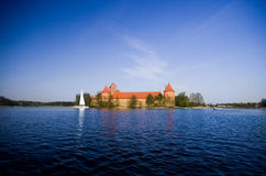 Castelo de Trakai Fotos de Stock Royalty Free