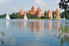 Castelo de Trakai lithuania Fotografia de Stock Royalty Free
